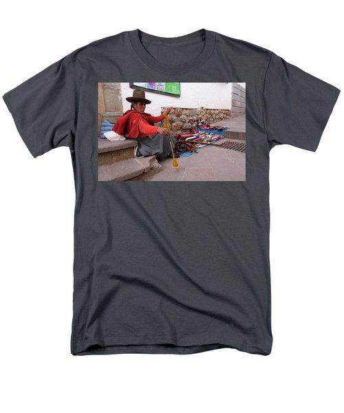 Peruvian Weaver Men's T-Shirt  (Regular Fit) by Aidan Moran