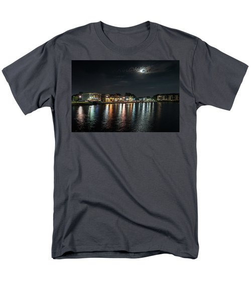 Pewaukee At Night Men's T-Shirt  (Regular Fit) by Randy Scherkenbach