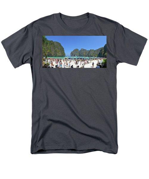 Men's T-Shirt  (Regular Fit) featuring the digital art Phi Phi Islands 4 by Eva Kaufman
