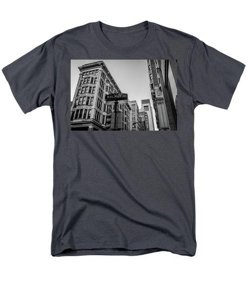 Men's T-Shirt  (Regular Fit) featuring the photograph Philadelphia Urban Landscape - 0980 by David Sutton