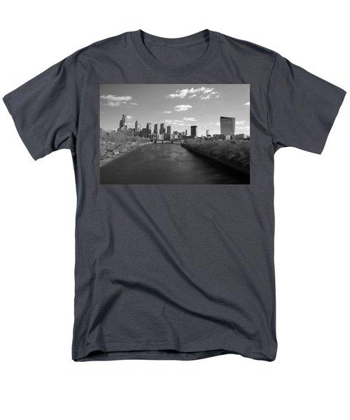 Philly B/w Men's T-Shirt  (Regular Fit) by Jennifer Ancker