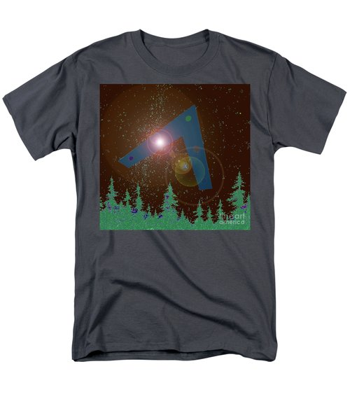 Men's T-Shirt  (Regular Fit) featuring the painting Phoenix Lights Ufo by James Williamson