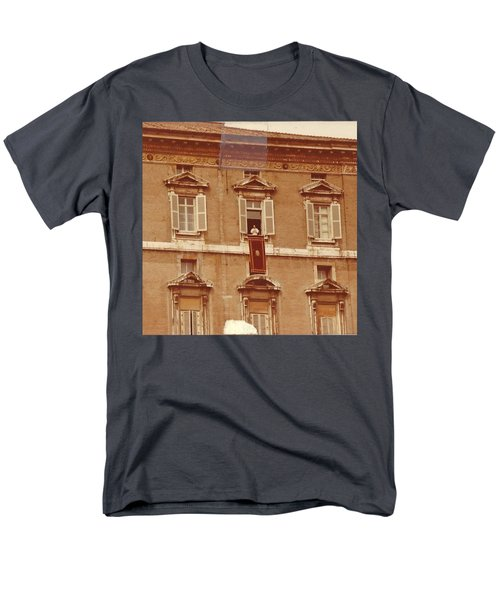 Piazza San Pietro-popes Window Men's T-Shirt  (Regular Fit) by Jay Milo
