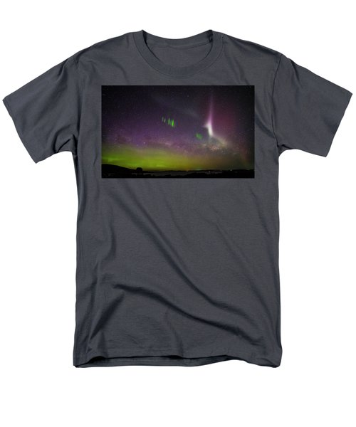 Men's T-Shirt  (Regular Fit) featuring the photograph Picket Fences And Proton Arc, Aurora Australis by Odille Esmonde-Morgan