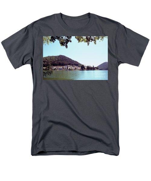 Piediluco And Piediluco Lake Men's T-Shirt  (Regular Fit) by Fabrizio Ruggeri