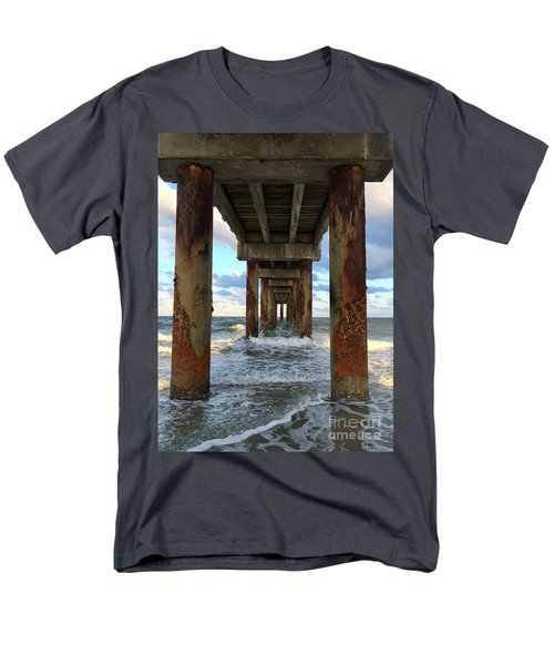 Pier In Strength And Peaceful Serenity Men's T-Shirt  (Regular Fit) by Cindy Croal
