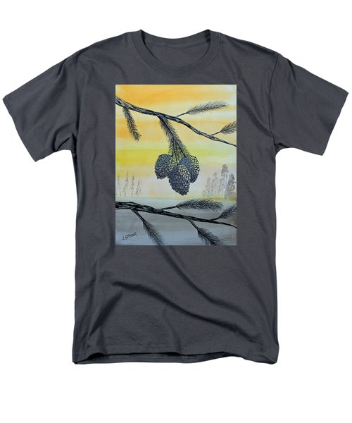 Pine Cones Men's T-Shirt  (Regular Fit) by Jack G  Brauer