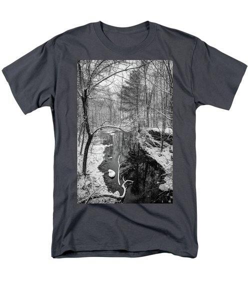 Pine Reflection On The Sheepscot Men's T-Shirt  (Regular Fit)