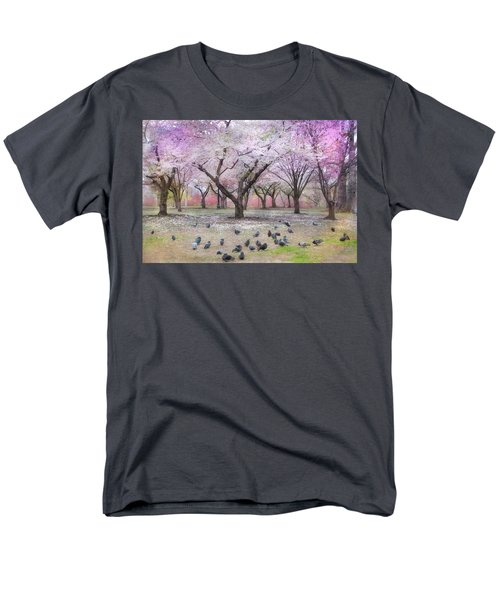 Men's T-Shirt  (Regular Fit) featuring the photograph Pink And White Spring Blossoms - Boston Common by Joann Vitali
