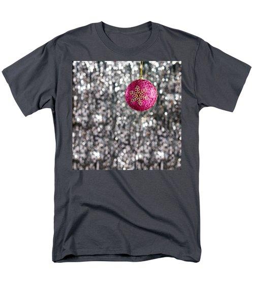 Men's T-Shirt  (Regular Fit) featuring the photograph Pink Christmas Bauble by Ulrich Schade