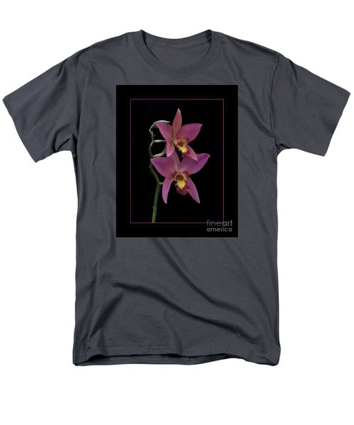 Pink Orchids Men's T-Shirt  (Regular Fit) by Darleen Stry