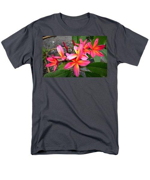 Pink Plumerias Men's T-Shirt  (Regular Fit) by Lori Seaman