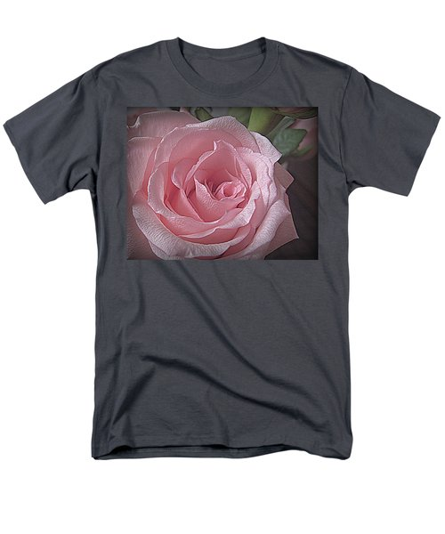 Pink Rose Bliss Men's T-Shirt  (Regular Fit) by Suzy Piatt