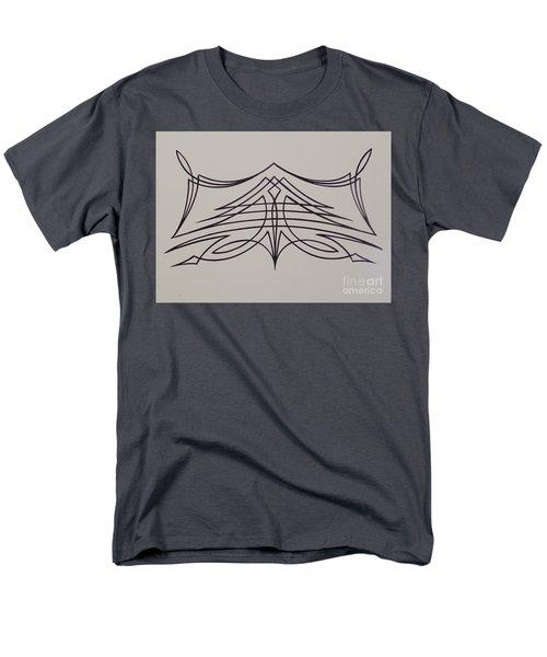 Pinstripe Black On White Men's T-Shirt  (Regular Fit) by Alan Johnson