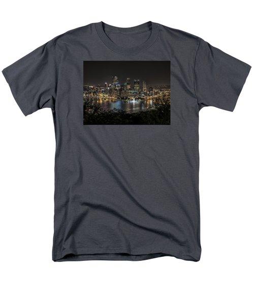Pittsburgh Skyline Men's T-Shirt  (Regular Fit) by Brent Durken