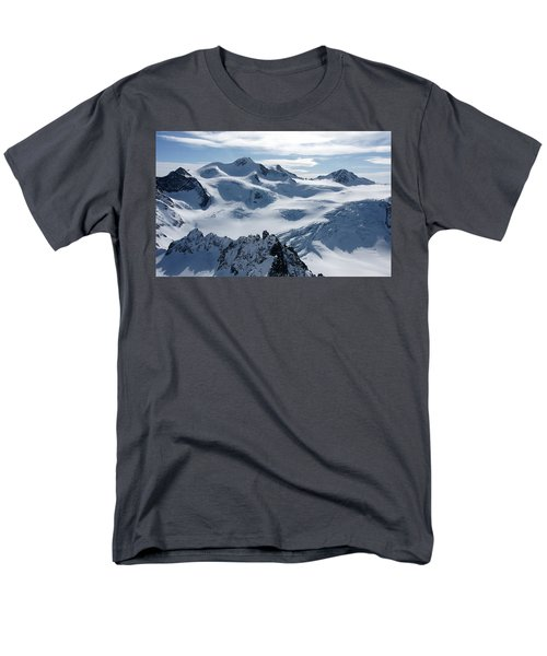 Men's T-Shirt  (Regular Fit) featuring the photograph Pitztal Glacier by Christian Zesewitz