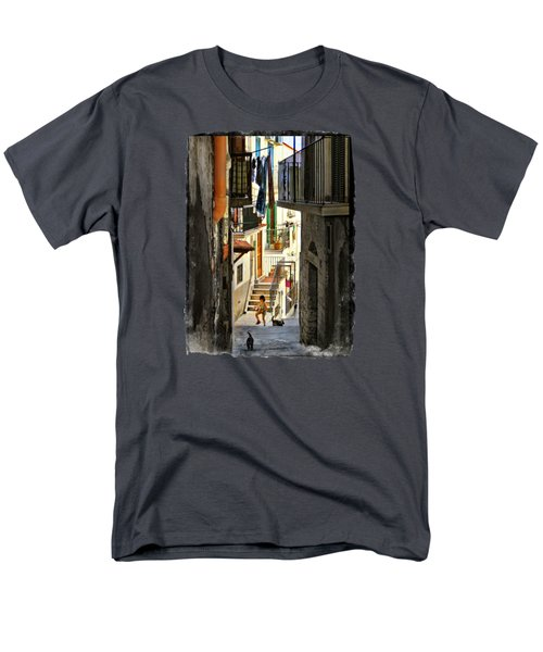 Play Day In Vieste.italy Men's T-Shirt  (Regular Fit) by Jennie Breeze