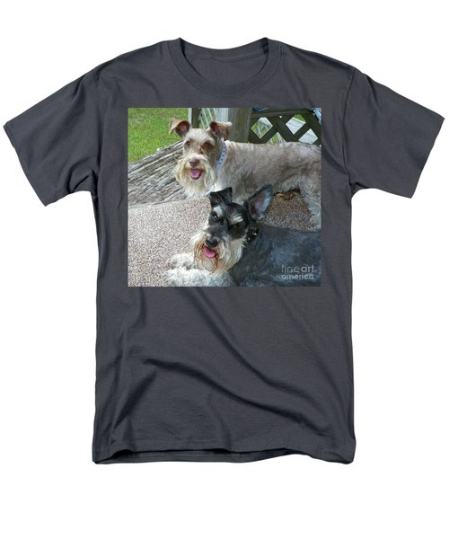 Men's T-Shirt  (Regular Fit) featuring the photograph Please Help Us Catch That Squirrel by Carol  Bradley
