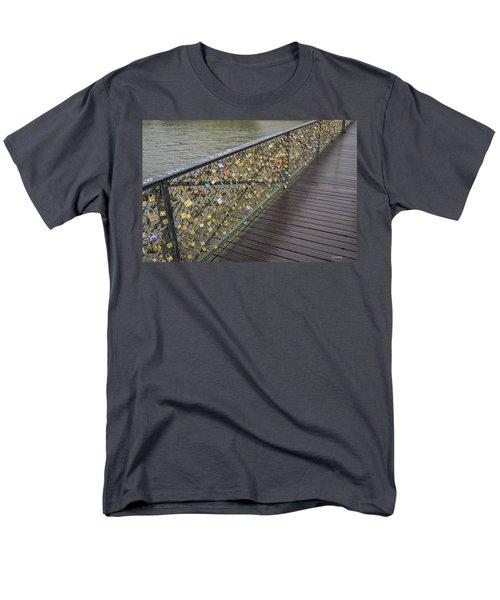 Pont Des Artes Men's T-Shirt  (Regular Fit) by Allen Sheffield