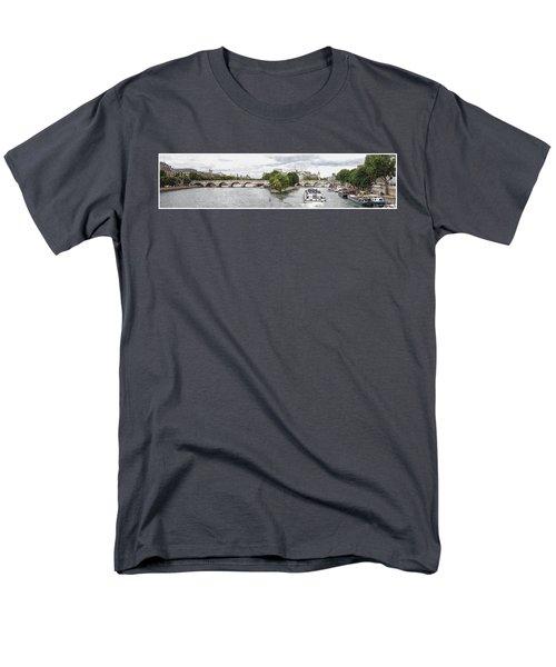 Pont Neuf Panorama Men's T-Shirt  (Regular Fit) by Kai Saarto