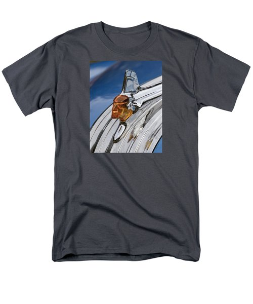 Men's T-Shirt  (Regular Fit) featuring the photograph 1952 Pontiac Catalina Chieftan Lighted Hood Ornament by Betty Denise