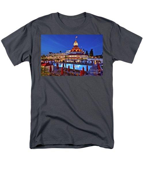 Poolside At The Hotel Del Coronado  Men's T-Shirt  (Regular Fit) by Sam Antonio Photography