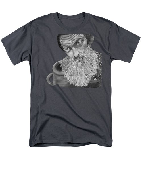 Popcorn Sutton Black And White Transparent - T-shirts Men's T-Shirt  (Regular Fit) by Jan Dappen