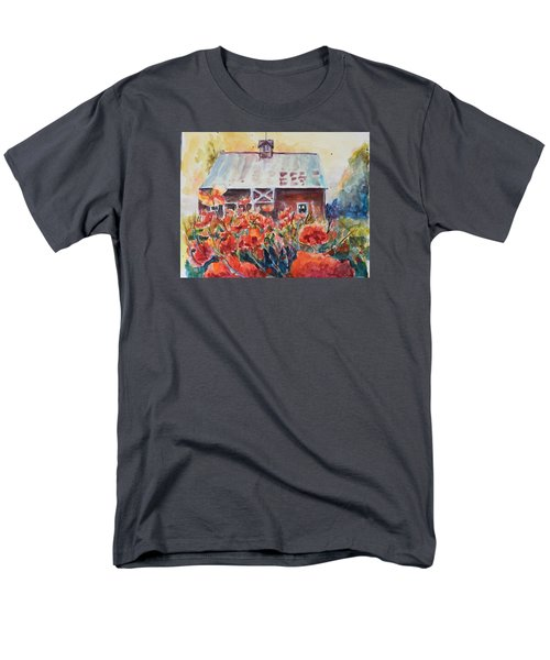 Men's T-Shirt  (Regular Fit) featuring the painting Poppy Morning by P Maure Bausch