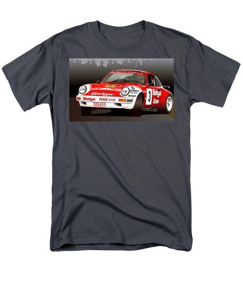 Porsche 911 Rally Illustration Men's T-Shirt  (Regular Fit) by Alain Jamar