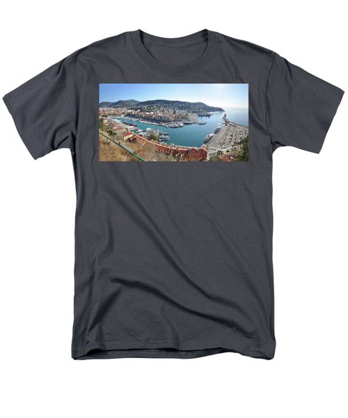 Men's T-Shirt  (Regular Fit) featuring the photograph Port Nice Panorama by Yhun Suarez