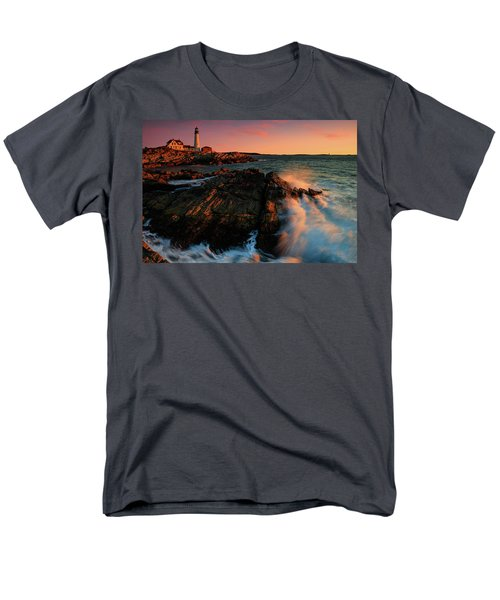 Men's T-Shirt  (Regular Fit) featuring the photograph Portland Head First Light  by Emmanuel Panagiotakis