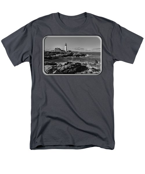 Portland Head Light No.34 Men's T-Shirt  (Regular Fit) by Mark Myhaver