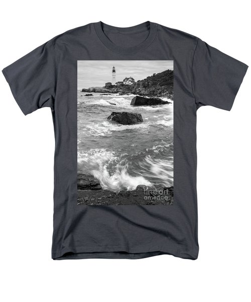 Portland Head Light Under Heavy Skies  -88356 Men's T-Shirt  (Regular Fit)