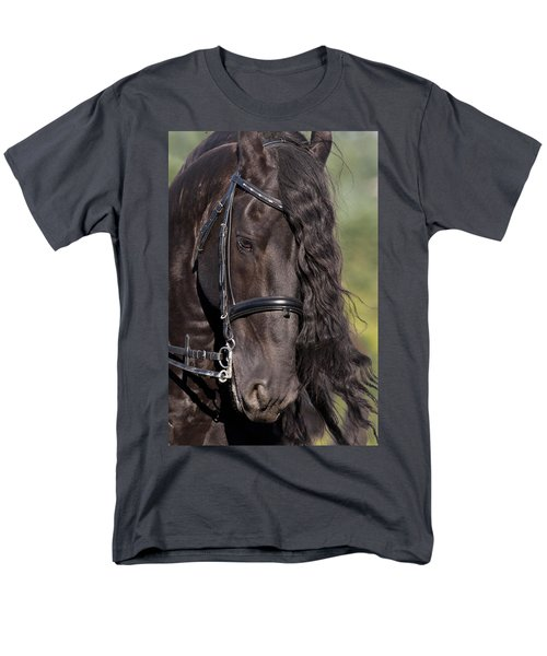 Men's T-Shirt  (Regular Fit) featuring the photograph Portrait Of A Friesian D6438 by Wes and Dotty Weber