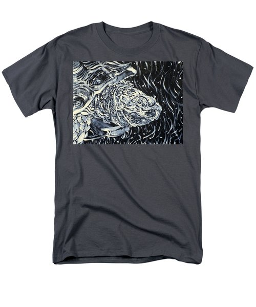 Men's T-Shirt  (Regular Fit) featuring the painting Portrait Of A Turtle by Fabrizio Cassetta
