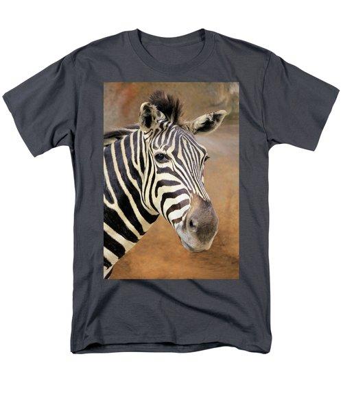 Portrait Of A Zebra Men's T-Shirt  (Regular Fit) by Rosalie Scanlon