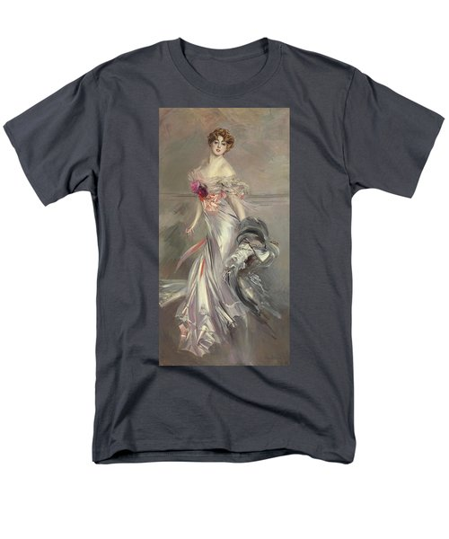 Portrait Of Marthe Regnier Men's T-Shirt  (Regular Fit) by Giovanni Boldini