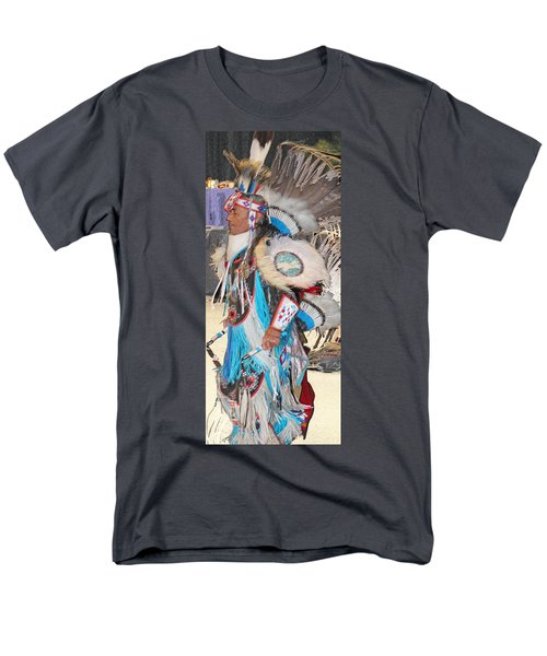 Pow Wow Dancer Men's T-Shirt  (Regular Fit) by Audrey Robillard