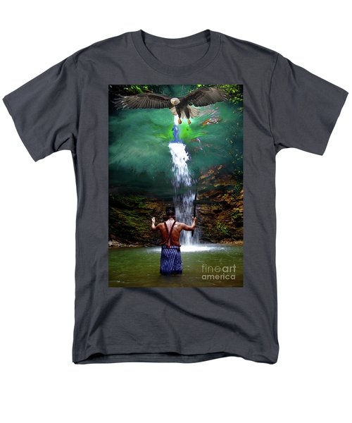 Men's T-Shirt  (Regular Fit) featuring the photograph Praying To The Spirits by Al Bourassa