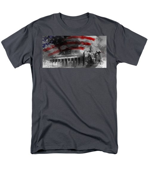 Men's T-Shirt  (Regular Fit) featuring the painting President Lincoln  by Gull G
