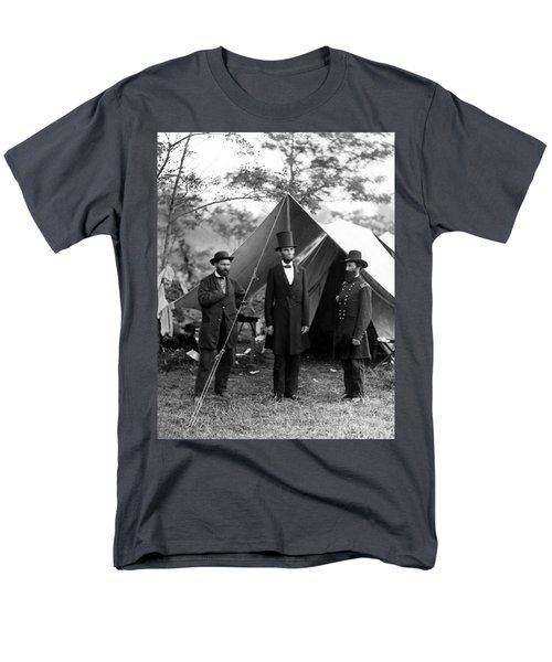 President Lincoln Meets With Generals After Victory At Antietam Men's T-Shirt  (Regular Fit) by International  Images