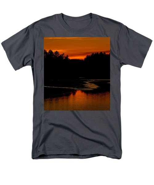 Presumpscot Sunset No.101 Men's T-Shirt  (Regular Fit) by Mark Myhaver
