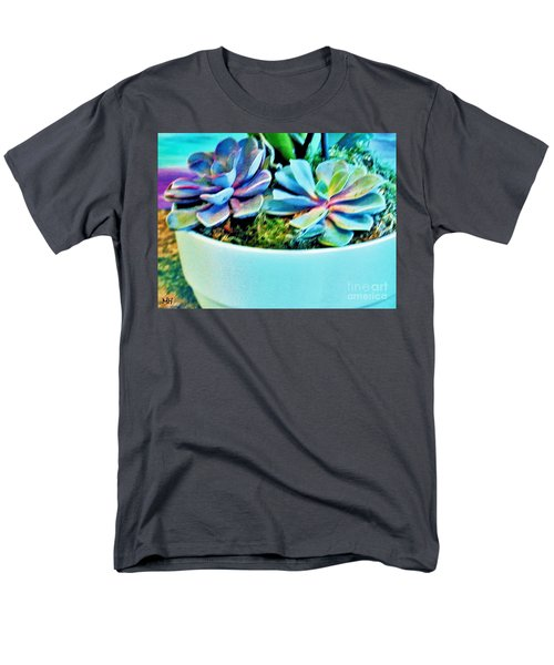 Pretty Hens And Chicks Men's T-Shirt  (Regular Fit) by Marsha Heiken