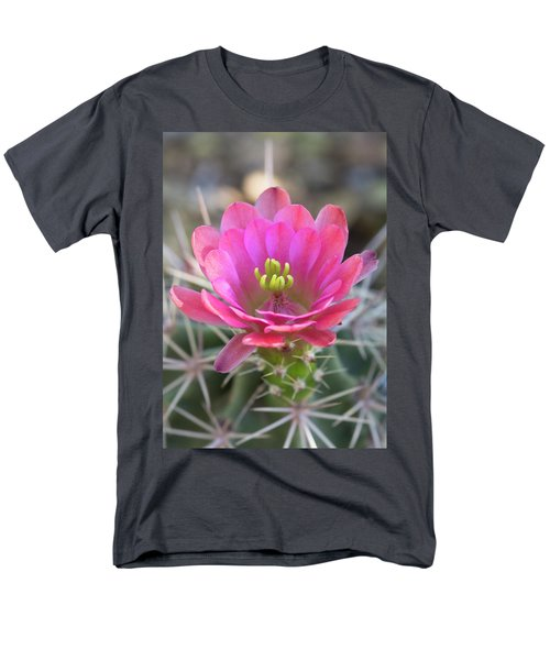 Men's T-Shirt  (Regular Fit) featuring the photograph Pretty In Pink Hedgehog  by Saija Lehtonen