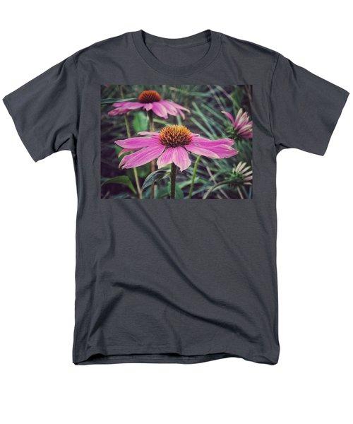 Men's T-Shirt  (Regular Fit) featuring the photograph Pretty Pink Flower Parasol by Karen Stahlros