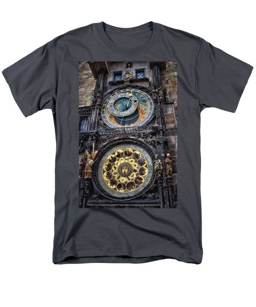 Progue Astronomical Clock Men's T-Shirt  (Regular Fit) by Sheila Mcdonald