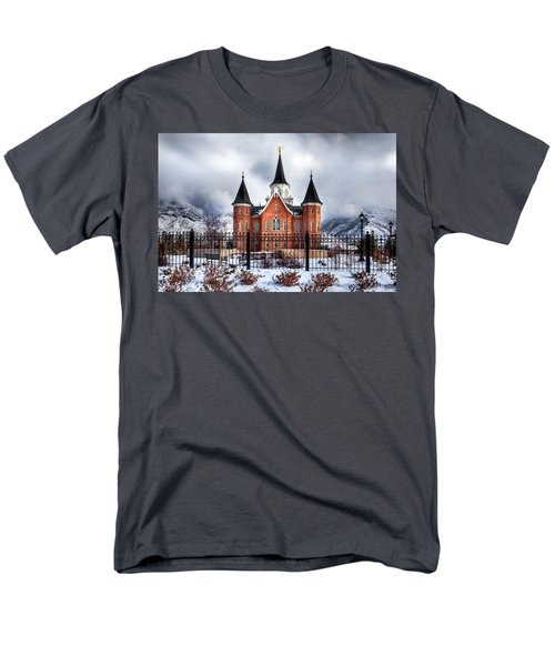 Provo City Center Temple Lds Large Canvas Art, Canvas Print, Large Art, Large Wall Decor, Home Decor Men's T-Shirt  (Regular Fit) by David Millenheft