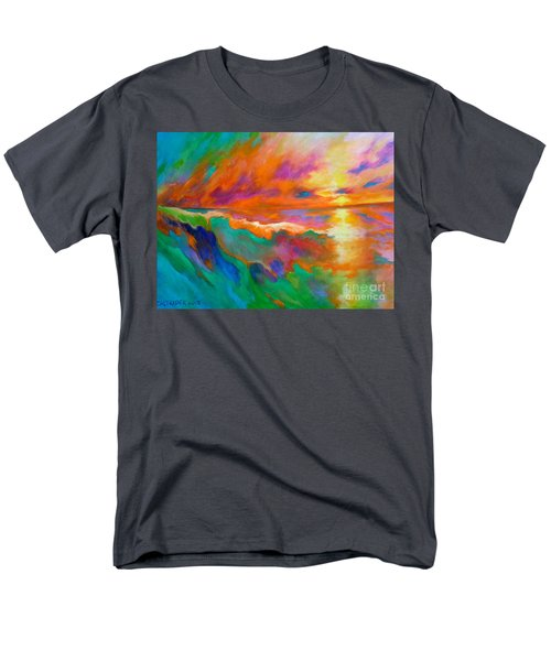 Psychedelic Sea Men's T-Shirt  (Regular Fit) by Alison Caltrider