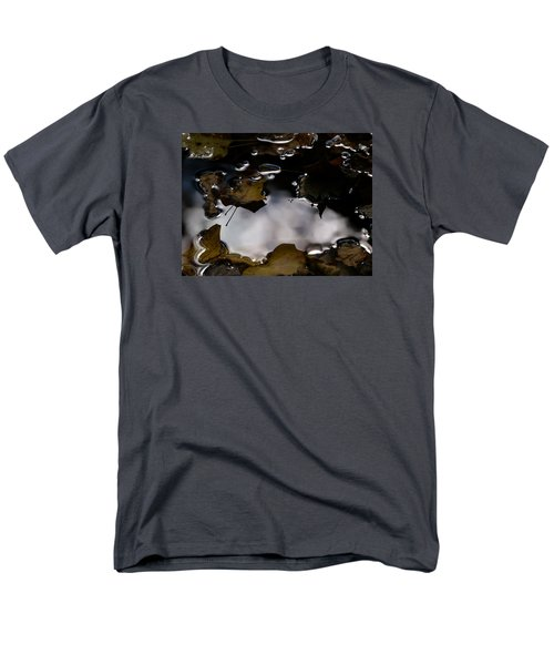 Men's T-Shirt  (Regular Fit) featuring the photograph Puddle Of Leaves by Jane Ford