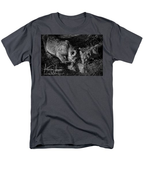 Men's T-Shirt  (Regular Fit) featuring the photograph Puddle Time by Karen Lewis